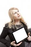 有远见的女实业家 免版税库存照片