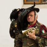 有迷你trompet的一个人 图库摄影