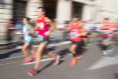 有迷离的抽象赛跑者 免版税库存照片