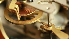 有选择性闹钟特写镜头重点mechanismthe老的照片 股票视频