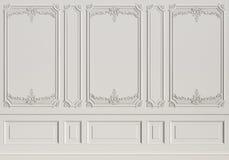 有造型的经典内墙 免版税库存图片
