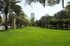 有都市风景背景的道路 免版税库存图片