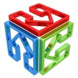 有里面五颜六色的箭头的箱子 免版税图库摄影