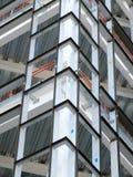 有金属框架和大梁的建造场所 图库摄影