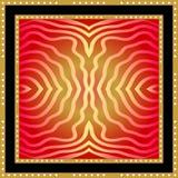 有金黄线性印刷品的丝绸围巾 皇族释放例证