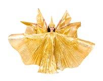 有金黄翼的肚皮舞表演者 免版税库存图片