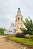 有钟楼的斯帕斯基大教堂在救主Priluki修道院里 免版税库存照片