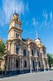 有钟楼的本迪戈城镇厅在澳大利亚 库存照片