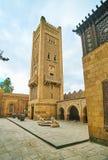 有钟楼的, Manial宫殿,开罗,埃及尖塔 库存图片
