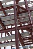 有钢构筑的一个建造场所 免版税库存图片