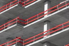 有钢结构和concre的工厂厂房建筑 免版税库存图片