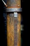 有铁锈的机械机器 库存照片