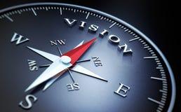 有银色和红色针的-概念视觉黑暗的指南针 库存例证