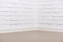 有铺磁砖的地板的,抽象背景照片白色砖墙 库存照片