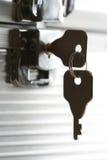 有锁的-特写镜头箱子 免版税库存照片