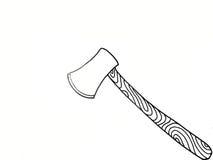 有锋利的刀片的轴 库存例证
