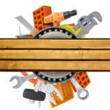 有锤子的手工具 库存照片