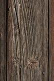 有镇压和生锈的钉子的老木板 库存图片