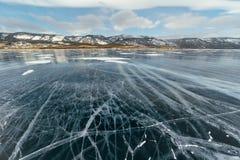 有镇压的Ice湖 图库摄影