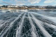 有镇压的Ice湖 库存照片