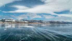 有镇压的Ice湖 免版税库存图片