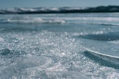 有镇压的Ice湖 库存图片