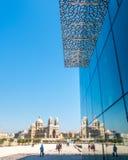 有镜象反射的马赛大教堂 免版税库存照片
