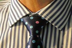 有镶边领带和多斑点的领带的工作者 库存图片