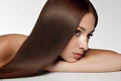 有长的头发的妇女。 高质量图象。 免版税库存图片