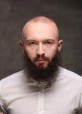 有长的胡子和髭行家的画象年轻人 库存照片