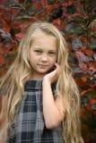 有长的头发的美丽的白肤金发的女孩 库存图片