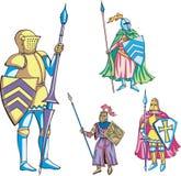 有长矛的骑士 库存例证