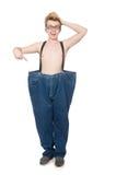有长裤的滑稽的人 免版税库存照片
