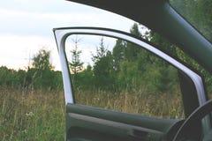 有门户开放主义的现代汽车 图库摄影