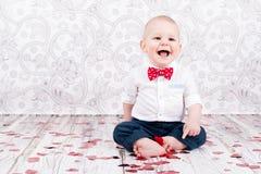 有闪烁的心脏的婴孩 免版税库存图片