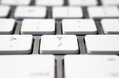 有问号的键盘 免版税库存图片