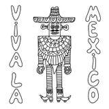 有阔边帽的墨西哥机器人 免版税库存照片