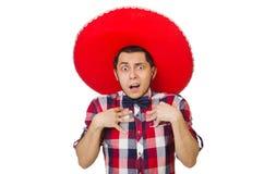 有阔边帽的滑稽的墨西哥人 图库摄影