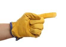 有防护手套的手 库存照片