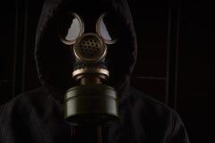 有防毒面具的人 免版税图库摄影