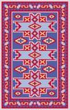 有阿塞拜疆国民样式的传染媒介地毯 向量例证