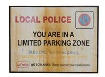 有限停车符号 库存照片
