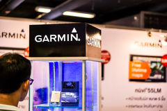 有限公司Garmin 在曼谷加入陈列 库存照片