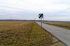 有限速的乡下公路 库存照片