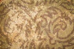 有难看的东西背景纹理的葡萄酒布书盖子 免版税库存照片