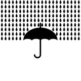 有雨的伞 也corel凹道例证向量 库存例证