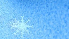 有雪、闪烁和雪花的圣诞快乐和新年快乐录影 影视素材
