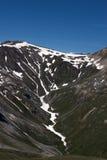 有雪的山的利维尼奥 库存图片