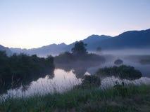 有雾的上升星期日 免版税图库摄影