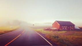 有雾的乡下 库存照片